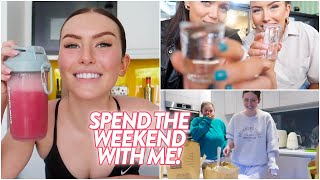 SPEND THE WEEKEND WITH ME! *gym, day drinking & a night in with rach!* | Hannah Renée