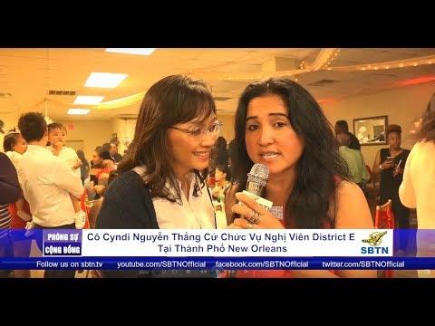PHÓNG SỰ CỘNG ĐỒNG: Cô Cyndi Nguyễn thắng cử chức vụ Nghị Viên district E tại New Orleans, Louisiana