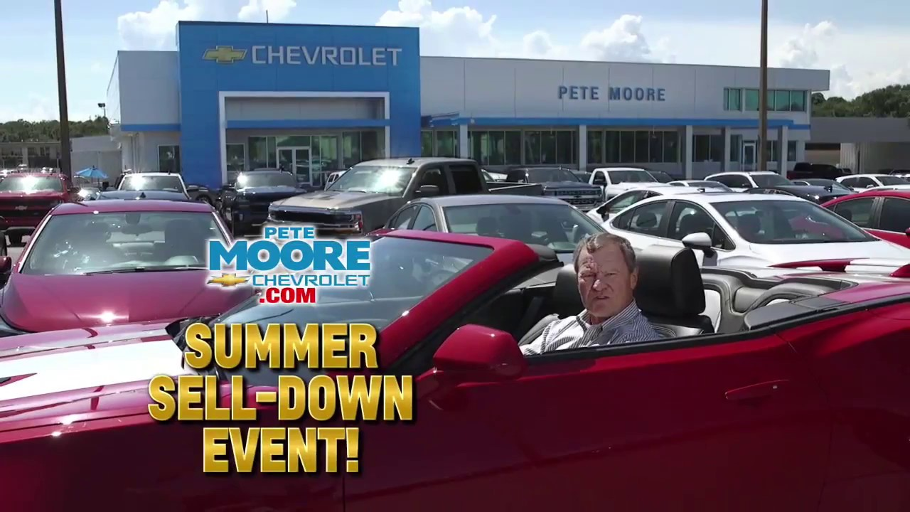 Pete Moore Chevrolet Chevy Specials July 2017