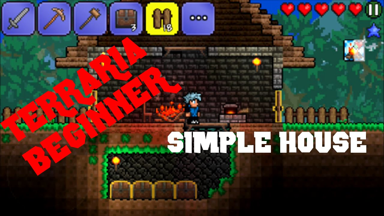 Terraria beginner ios how to build a basic house with a terraria beginner ios how to build a basic house with a storage room youtube ccuart Image collections