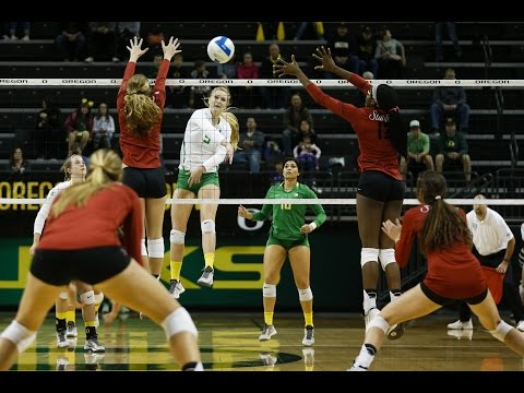 Stanford vs Oregon - Women's Volleyball Highlights (10/11/15)