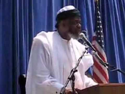 Imam praising Abolitionists in Dowtown Brooklyn