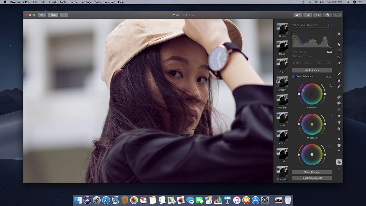 pixelmator pro change color