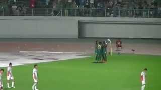 2014.08.10 第26節 FC岐阜対愛媛FC ヘニキ選手の先制ゴール