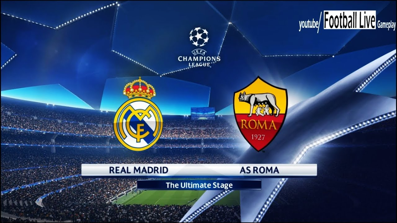 Image result for Real Madrid vs AS Roma 2018 Live
