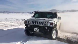 Snow drifting with Hummer H2