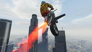 INCREIBLE MOTO VOLADORA! FLIPANTE!!! - DLC TRAFICO DE ARMAS (GUNRUNNING) - GTA V ONLINE