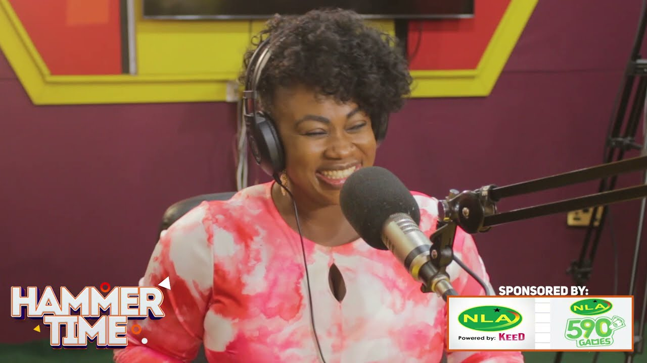 Philipa Baafi interacts with her fans on Hammer Time