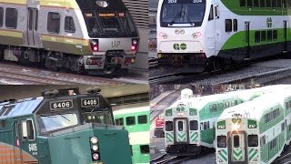 GO Transit / UP Express /VIA Rail / AMTRAK at  Union Station Toronto rush hour Oct 15 2015
