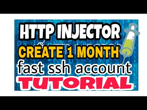 HTTP INJECTOR 1 MONTH FAST SSH ACCOUNT TUTORIAL - YouTube