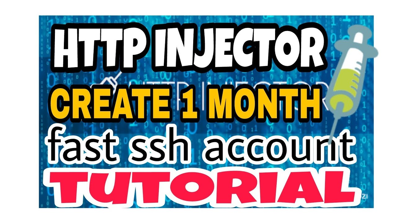 HTTP INJECTOR 1 MONTH FAST SSH ACCOUNT TUTORIAL