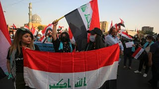 Thousands of Iraqis take to streets to mark anti-govt protests anniversary