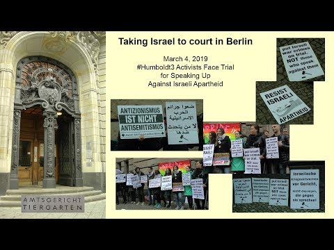 Taking Israel To Court In Berlin
