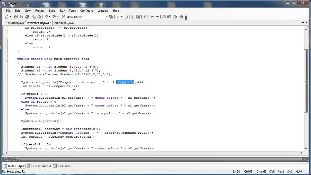 Interfaces Part 8 Comparable Vs Comparator Java Youtube