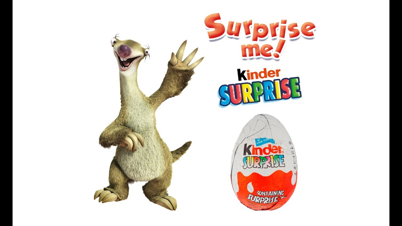 2 Surprice Eggs, Kinder Surprice Sid Ice Age - YouTube