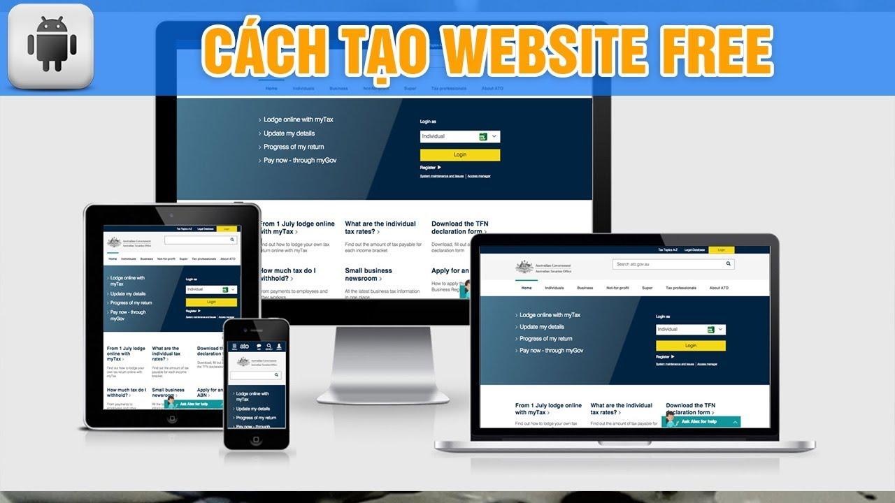 Weebly: Tạo website miễn phí 100% với thao tác rất đơn giản