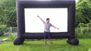 Tusy 14 foot Outdoor Inflatable Movie Projector Screen Review