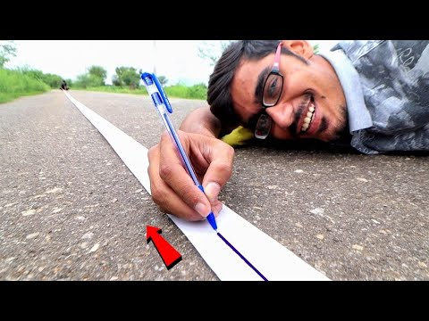 Ball Pen Writing Range Test | 5 रुपए का पेन कितने किलोमीटर चलेगा? Surprising Results