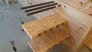 Самая простая консольная лестница для дачи своими руками ч-2. изготовление ступеней