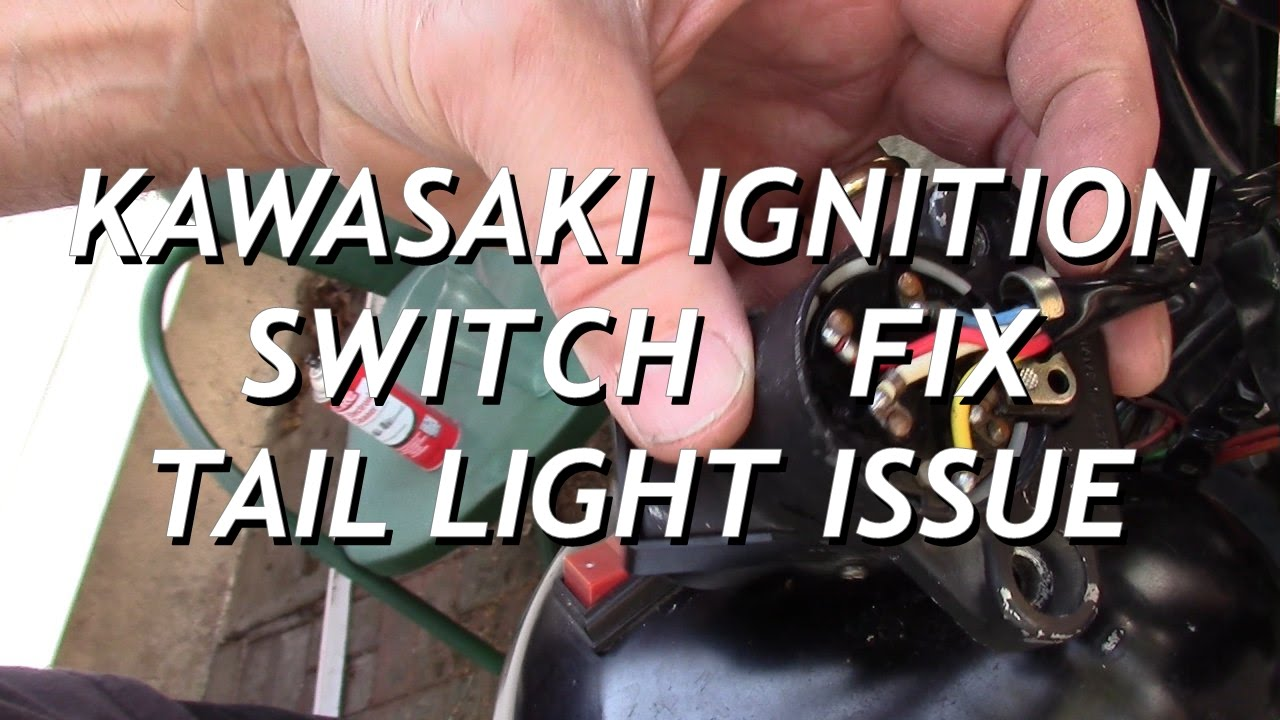 kawasaki ignition switch fix intermittent tail light bulb fault