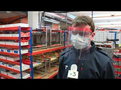 Coronavirus et solidarité: Impression 3D de visières de protection par Dagoma à Roubaix.