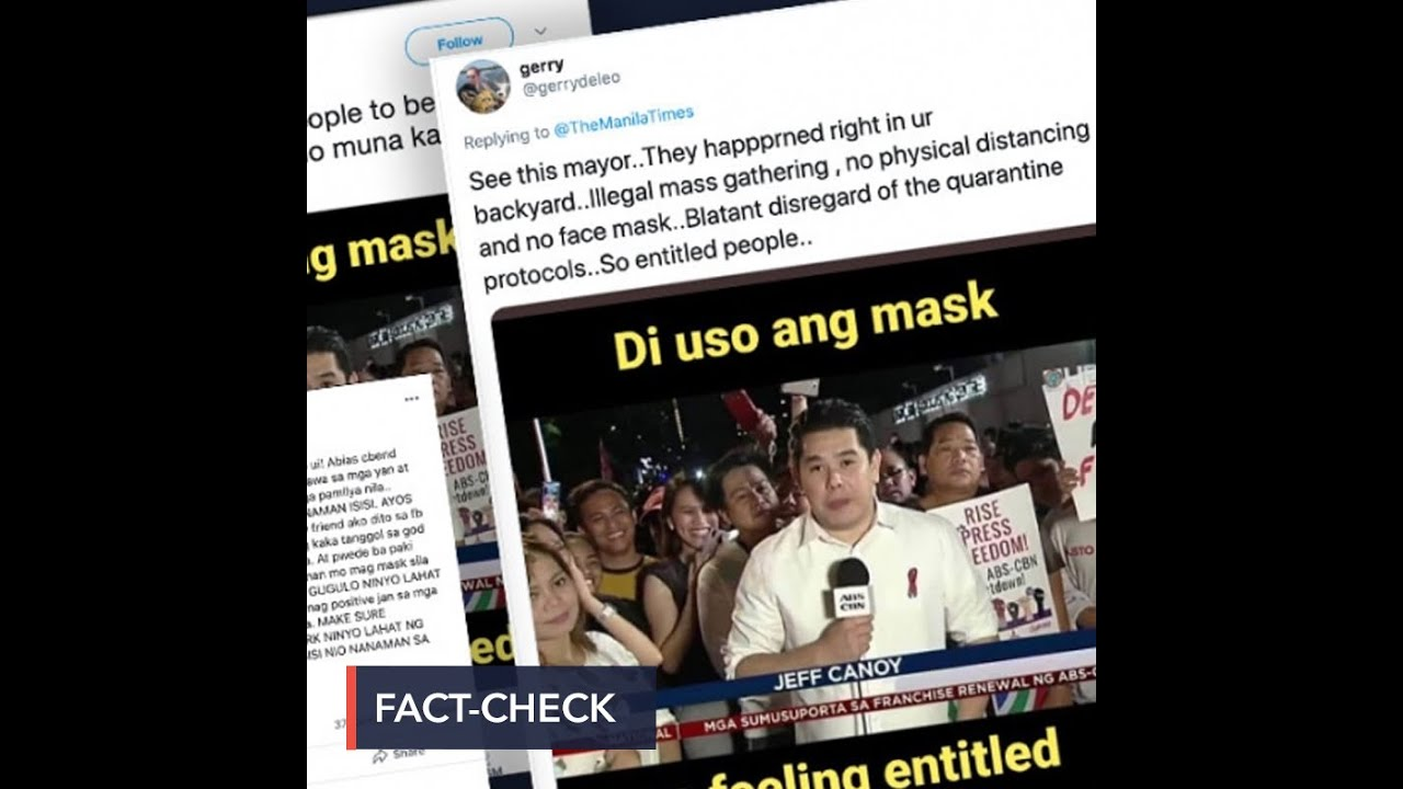 Download FALSE: Photo of Jeff Canoy, ABS-CBN supporters in 'illegal mass gathering'