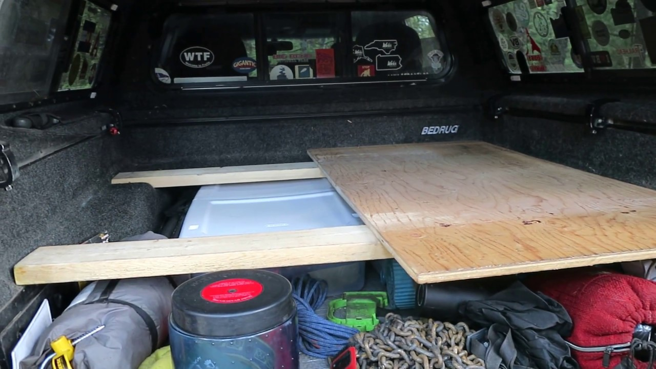 Genial Truck Camping: How I Built My Platform Bed (SUPER EASY)