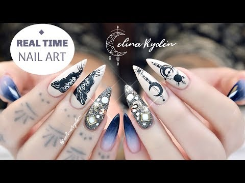 REAL TIME NAIL ART | STILETTO GEL NAILS | TUTORIAL thumbnail