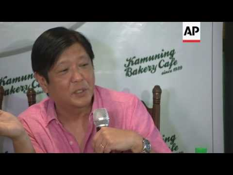 Ferdinand Marcos on vice president plans