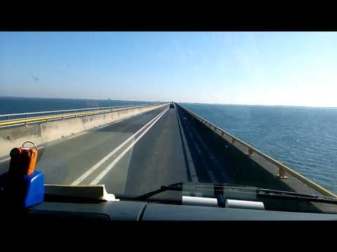 Drive over the bridge in holland