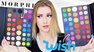 I Bought A FAKE James Charles Palette From Wish !!