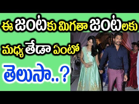 Difference Between Allu Arjun Sneha Reddy And Other Couples || Allu Arjun and Sneha Reddy