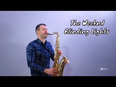 The Weeknd - Blinding Lights (Slow Ballad Saxophone & Piano Cover By JK Sax)