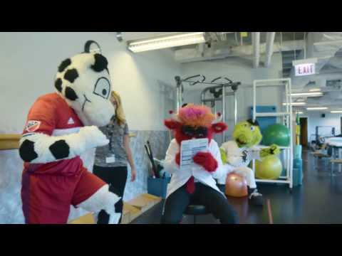 Benny the Bull joins Midwest Orthopaedics at Rush as the first ever Mascot Specialist