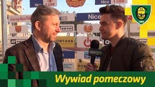 Trener Jerzy Brzęczek po meczu Znicz Pruszków - GKS Katowice (4 04 2017)