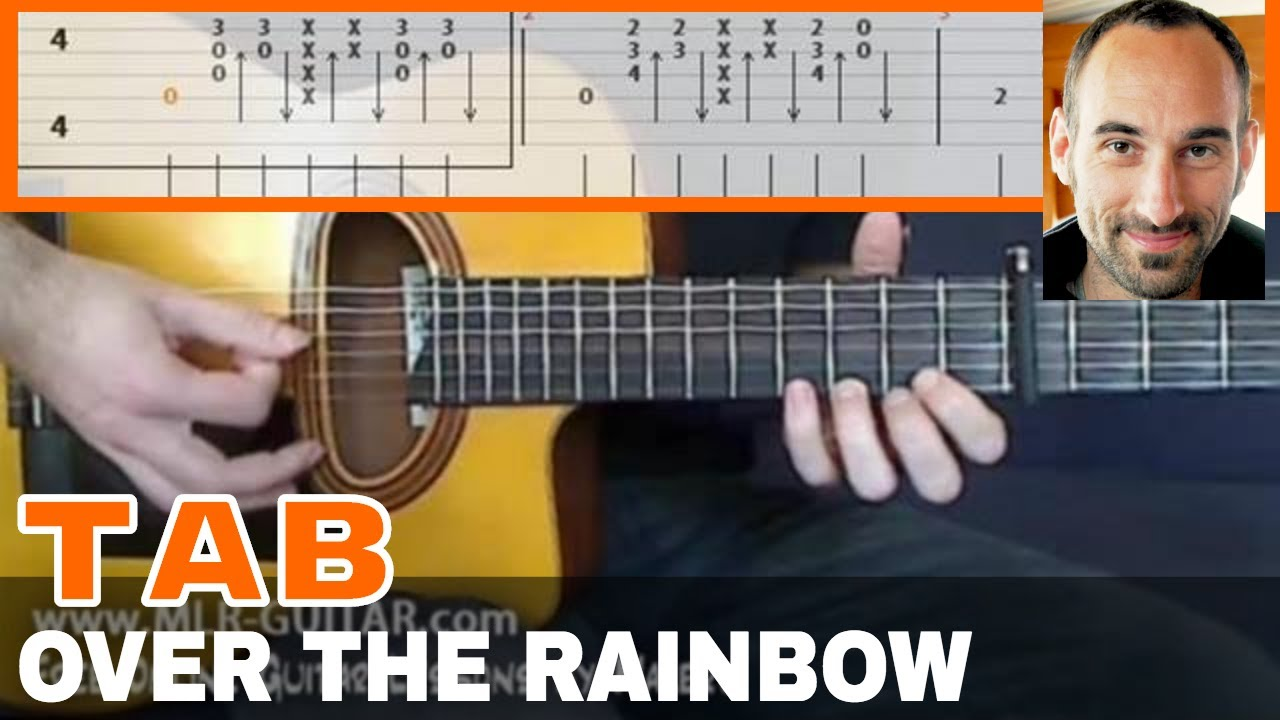 how to play over the rainbow on guitar