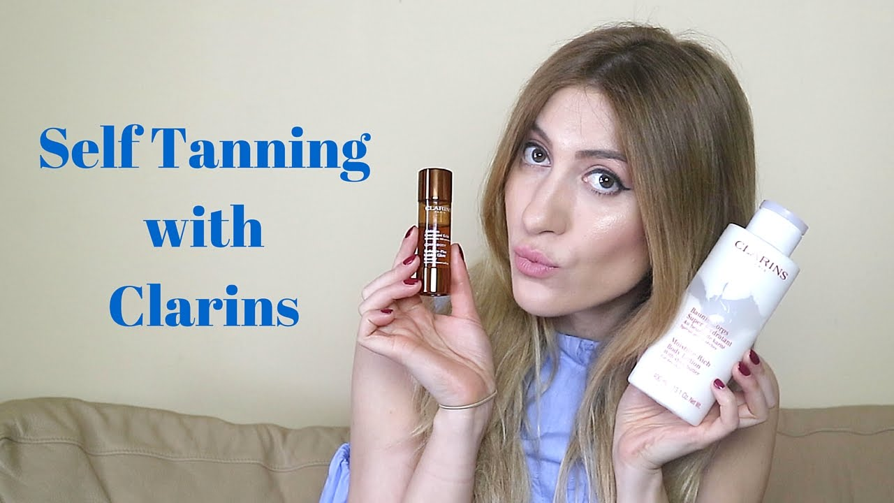 clarins self tanner face