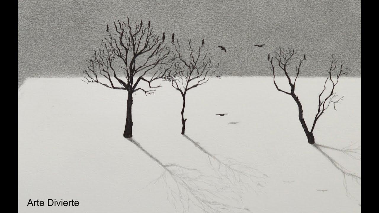 Cómo Dibujar árboles Con Un Efecto En 3d Arte Divierte Youtube
