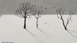 Cómo dibujar árboles con un efecto en 3D - Arte Divierte