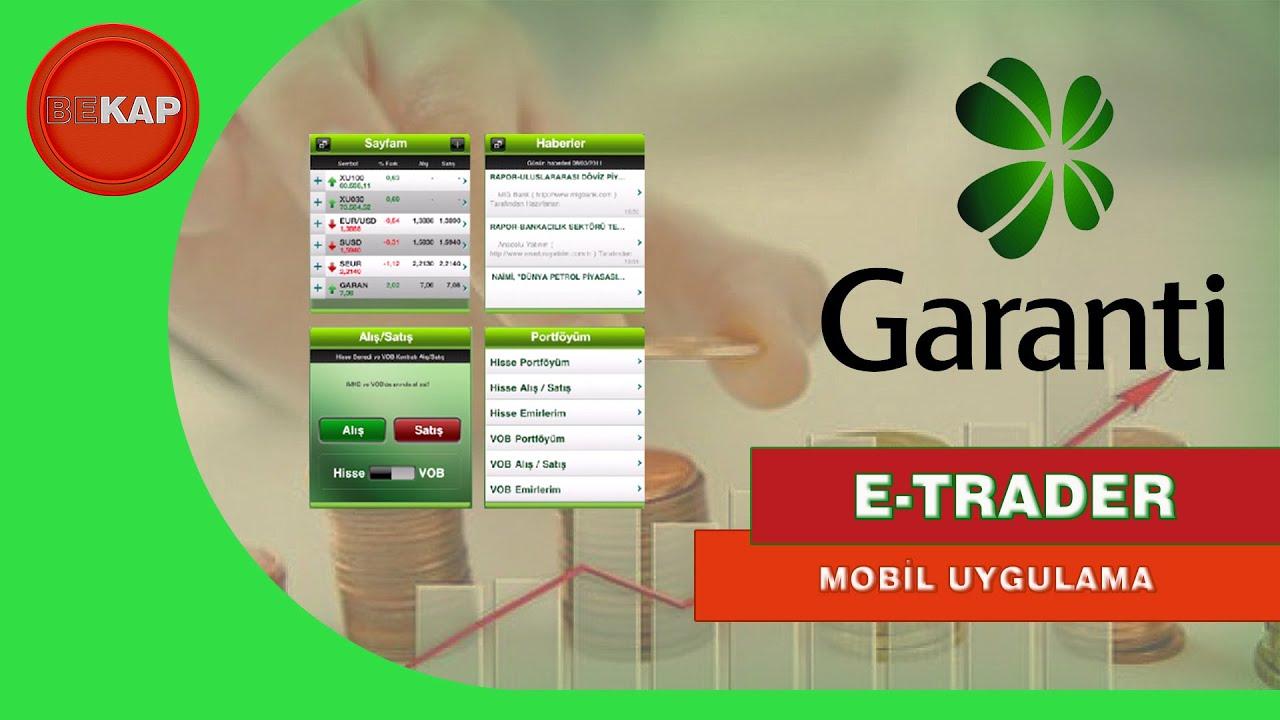 Garanti e Trader mobil uygulaması, Garanti Borsa Uygulaması