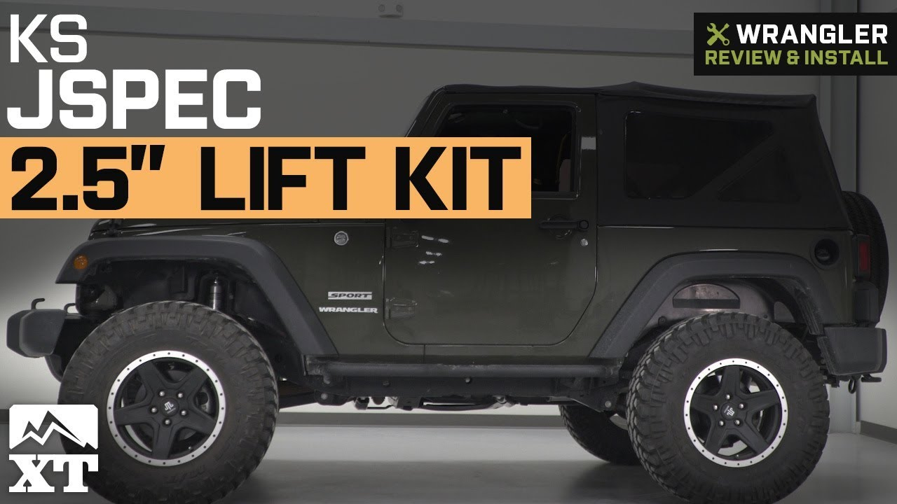 jeep wrangler jks jspec 2 5 lift kit 2007 2018 jk 2 door review install youtube. Black Bedroom Furniture Sets. Home Design Ideas