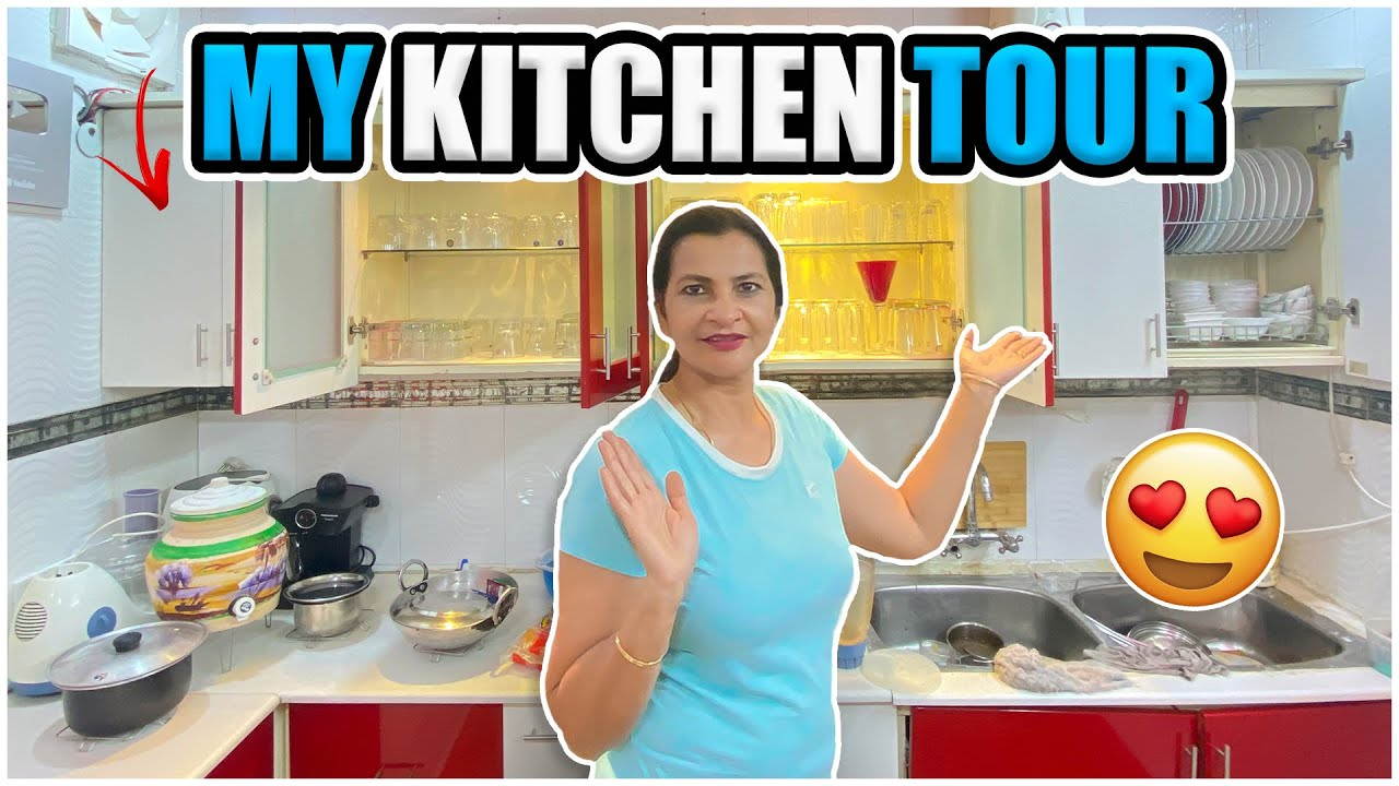 My Kitchen Tour !! Small but well organised !!