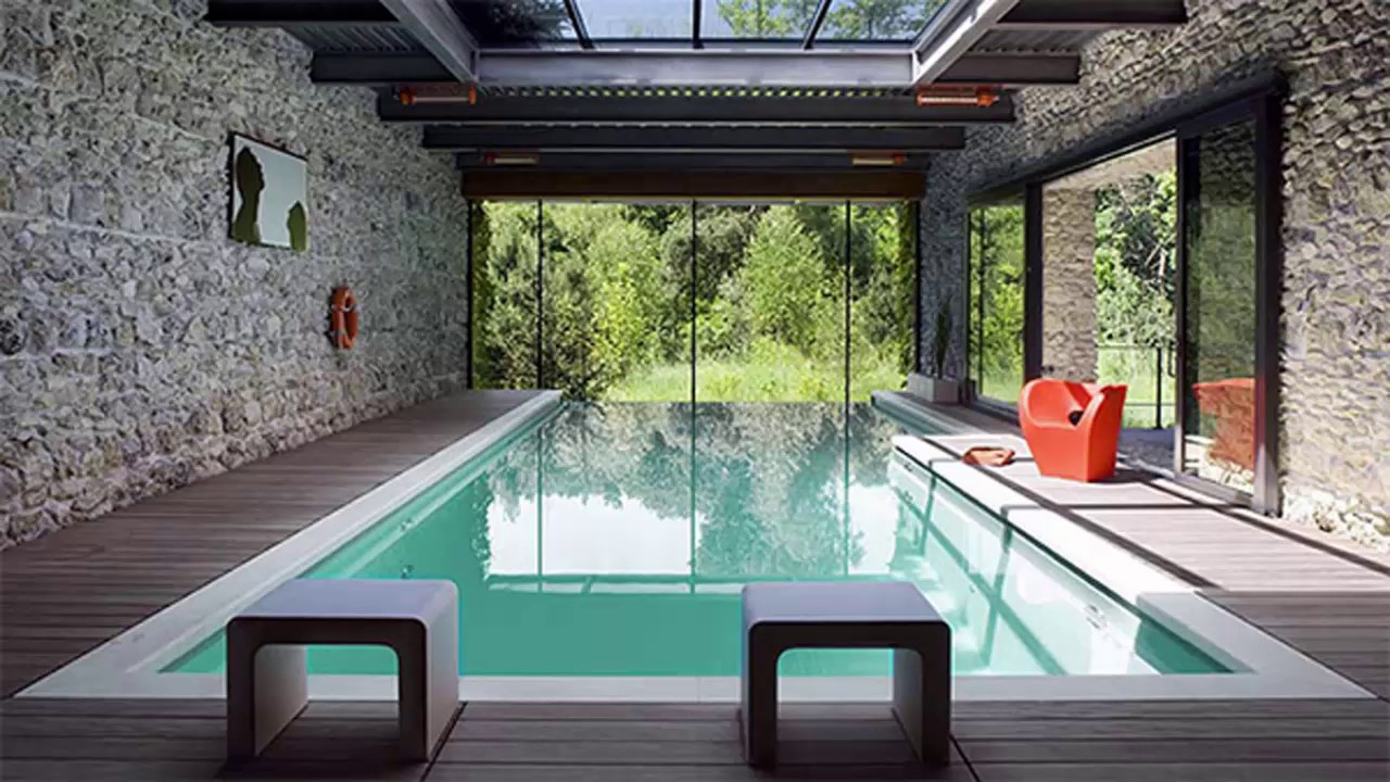 indoor swimming pool design idea decorating your home youtube - House Pools Design