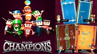 Flick Champions Summer Sports Gameplay - iOS ANDROID HD