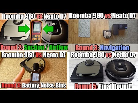 Neato D7 Vs Roomba 980 - ALL ROUNDS In 1 Video