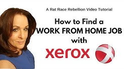 How to Find a Work from Home Job with Xerox