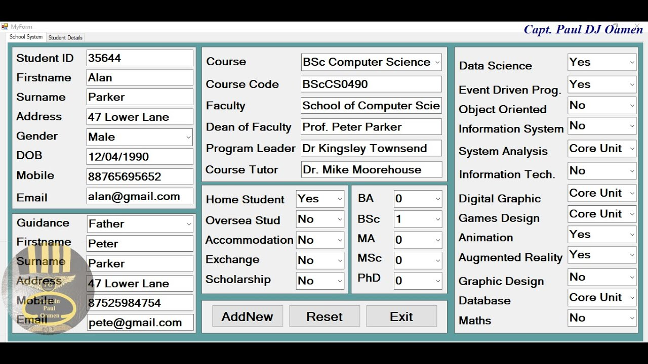 How to Create School Management System with MySQL Database in Visual C++ - Full Tutorial