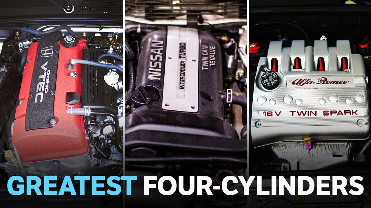 hight resolution of the 8 greatest four cylinder engines of the last 20 years