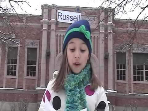 Noelle's open letter to Russell Wilson, a role model for her elementary schooll