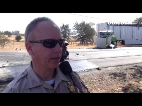 CHP Sgt  Al Sanders explains fatal vehicle accident on hwy  70 near  Oroville, Calif  Mon